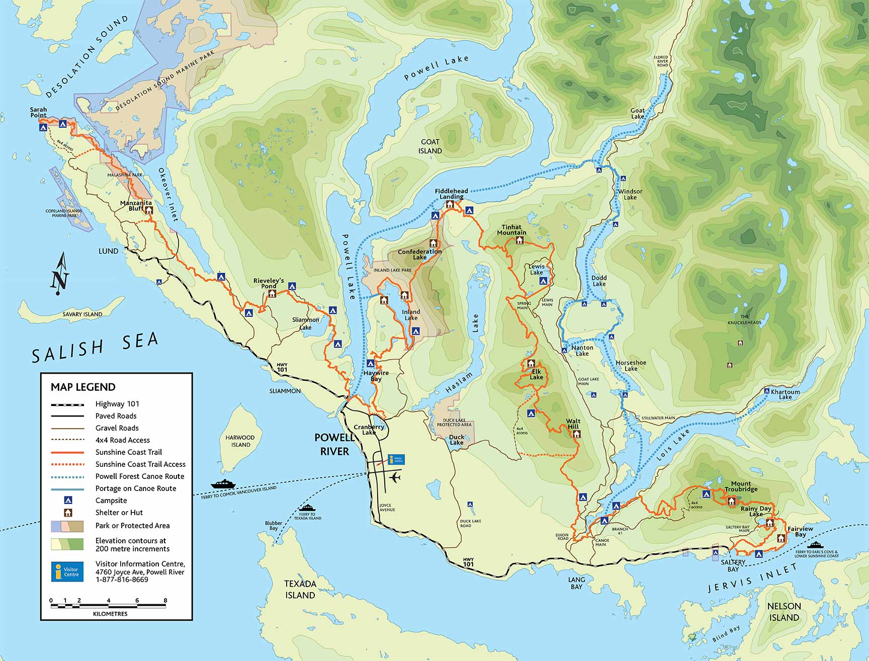 Sunshine Coast Trail Maps